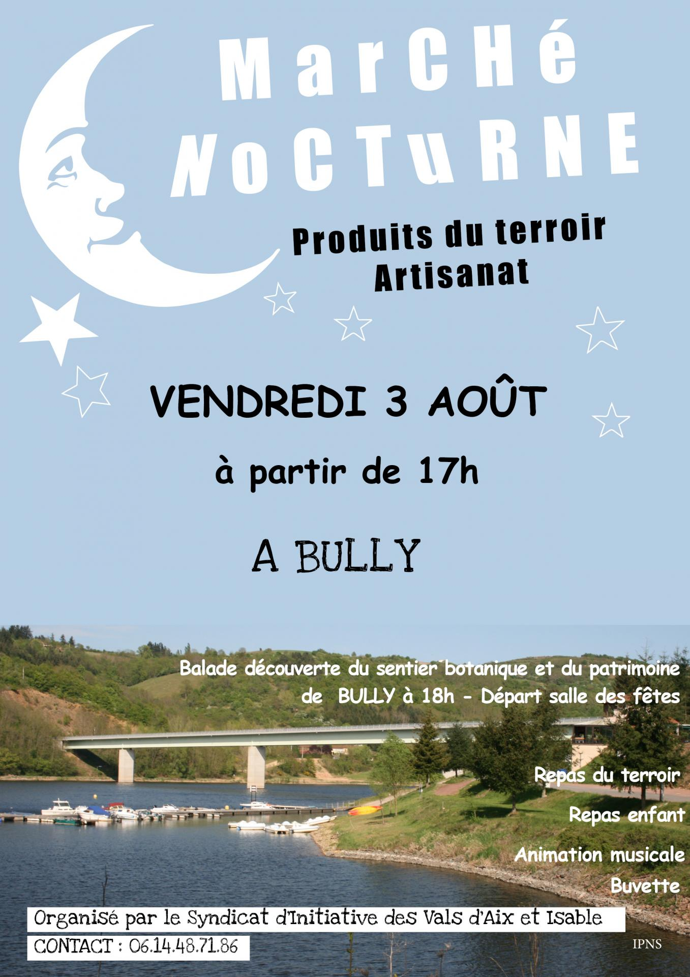 Affiche marche nocturne bully 2018