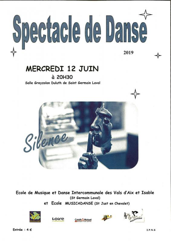 Spectacle danse 12 juin